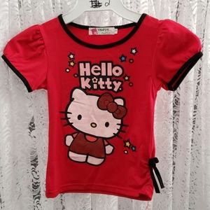 Girl's T-shirt Red Hello Kitty